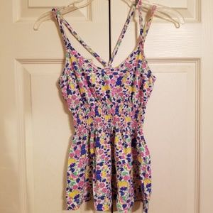 Hurley floral tank top
